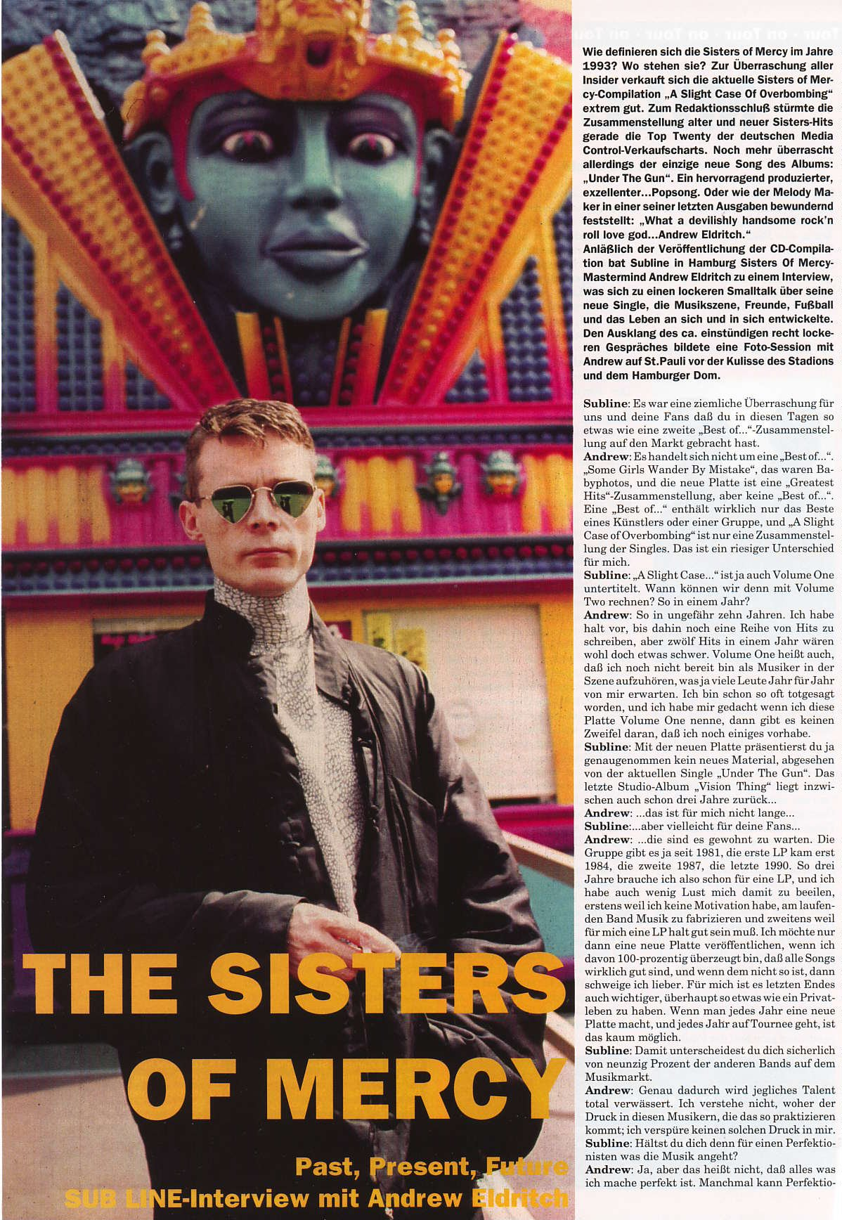 The Sisters of Mercy Ultimate Resource Guide - German interviews ...